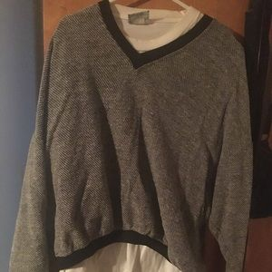 Other - 90s inspired black and white sweater